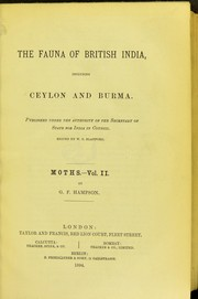 Cover of: The Fauna of British India, including Ceylon and Burma | W. T. Blanford