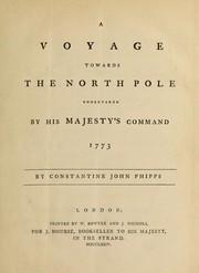 Cover of: A voyage towards the North pole undertaken by His Majesty's command, 1773