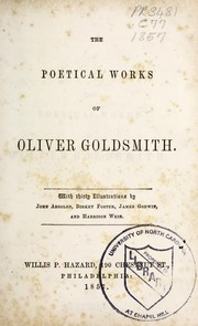 Cover of: The poetical works of Oliver Goldsmith