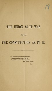 Cover of: The Union as it was |