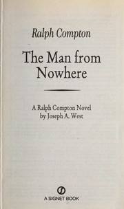 Cover of: The man from nowhere