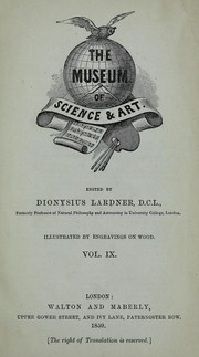 Cover of: The museum of science & art