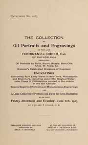 Cover of: Oil portraits and engravings of the late Ferdinand J. Dreer | Stan. V. Henkels (Firm)