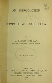 Cover of: An introduction to comparative psychology