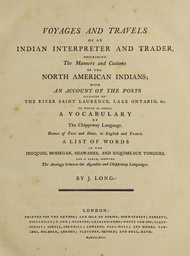 Voyages and travels of an Indian interpreter and trader (1791
