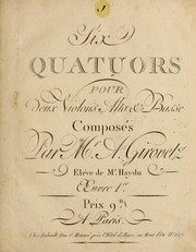 Cover of: Quatuors