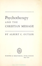 Cover of: Psychotherapy and the Christian message