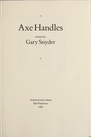 Cover of: Axe handles: poems