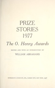Cover of: Prize Stories 1977
