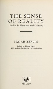 Cover of: The sense of reality | Isaiah Berlin