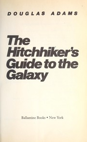 Cover of: The hitchhiker's guide to the galaxy