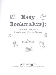 Cover of: Easy bookmaking