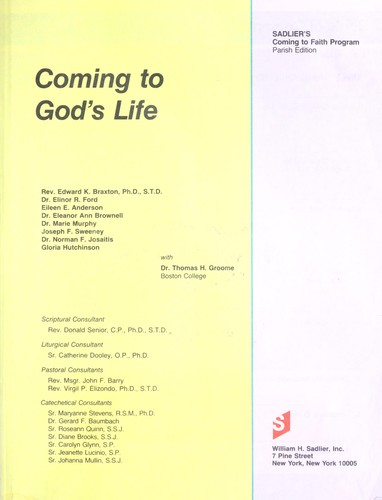 Coming to God's Life by Martha Groome