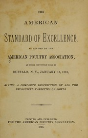 Cover of: The American standard of excellence | American poultry association