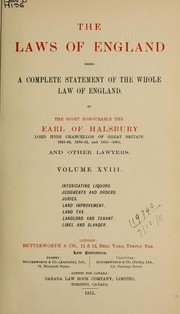 Laws, etc. (Laws of England : 3rd ed.) by Rand McNally