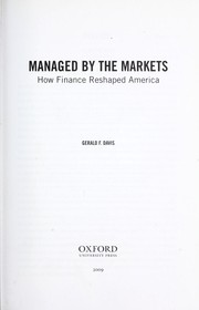 Cover of: Managed by the markets | Gerald F. Davis