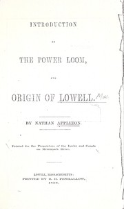 Introduction of the power loom by Appleton, Nathan