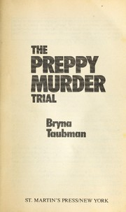 Cover of: The preppy murder trial