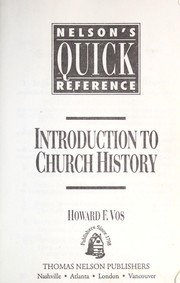 Cover of: Introduction to church history