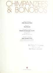 Cover of: Chimpanzees & bonobos | Ann Elwood