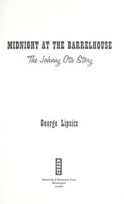 Cover of: Midnight at the Barrelhouse | George Lipsitz