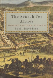 Cover of: The search for Africa