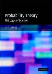 Cover of: PROBABILITY THEORY by E. T. (EDWIN T.) JAYNES