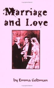 Cover of: Marriage And Love