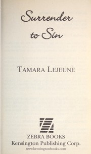 Cover of: Surrender to sin | Tamara Lejeune