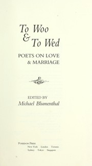 Cover of: To Woo and to Wed