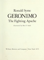 Cover of: Geronimo, the fighting Apache