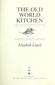 Cover of: Old World Kitchen, The