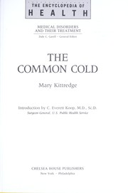 Cover of: The common cold