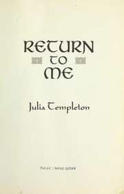 Cover of: Return to me | Julia Templeton