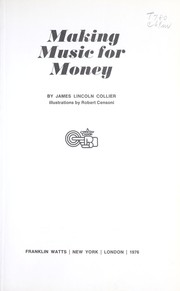 Cover of: Making Music for Money