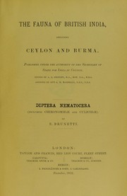Cover of: The Fauna of British India, including Ceylon and Burma | Sir Arthur Everett Shipley