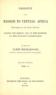 Cover of: Narrative of a mission to Central Africa