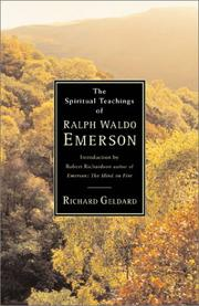 Cover of: The spiritual teachings of Ralph Waldo Emerson