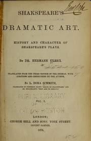 Cover of: Shakespeare's dramatic art