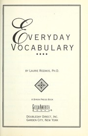 Cover of: Everyday vocabulary