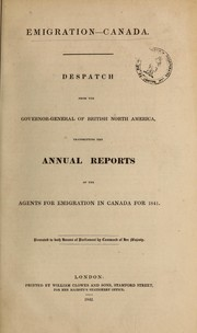 Cover of: Emigration, Canada