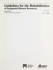 Cover of: Guidelines for the rehabilitation of designated historic resources