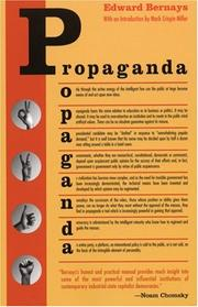 Cover of: Propaganda | Edward L. Bernays