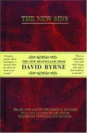 The New Sins by David Byrne
