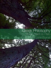 Cover of: Greek philosophy |