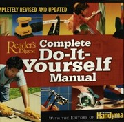 Readers digest open library complete do it yourself manual solutioingenieria Image collections