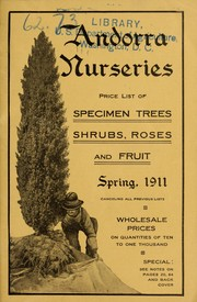 Cover of: Price list of specimen trees, shrubs, roses and fruit | Andorra Nurseries