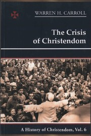 Cover of: The Crisis of Christendom