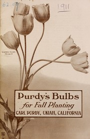 Cover of: Purdy's bulbs for fall planting