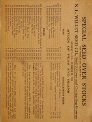 Cover of: Stock of peas and beans | N.L. Willet Seed Co